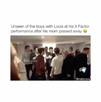 THIS IS SO CUTE OMG IM LITERALLY CRYING THIS IS A TRUE FRIENDSHIP 💯😩😍 - {follow me @niallscave for more!}: Unseen of the boys with Louis at his X Factor  performance after his mom passed away  ST91UPDATES  @nialliscave THIS IS SO CUTE OMG IM LITERALLY CRYING THIS IS A TRUE FRIENDSHIP 💯😩😍 - {follow me @niallscave for more!}