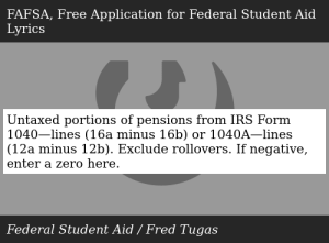 Untaxed Portions of Pensions From IRS Form 11—lines 11a ...