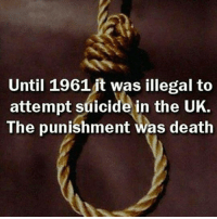 Memes, 🤖, and The Punisher: Until 1961 it was illegal to  attempt suicide in the UK.  The punishment was death Richtig so, Gerechtigkeit muss sein
