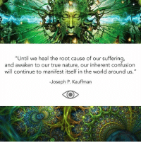 "Being Alone, Life, and Memes: ""Until we heal the root cause of our suffering  and awaken to our true nature, our inherent confusion  will continue to manifest itself in the world around us.""  -Joseph P. Kauffman  KOO Via @conscious_collective - ""Because we feel ourselves to be separate from the world in which we live, we have also grown to feel quite alone in this world. Our sense of loneliness and isolation not only makes us feel depressed and miserable, but it also causes us to be anxious and afraid of the world and everyone in it. Because of this inherent fear, we put up all kinds of barriers to protect us from the world—barriers that we have created to keep us safe, but that really end up making us feel more alone, more miserable, and more afraid, as they prevent us from being our natural selves. • We have become disconnected from our true selves, and naturally, this has produced a deep sense of lack in our lives, causing us to endlessly search for happiness in objects, experiences, and people to fill the emptiness and make us feel whole again. We crave pleasure, material riches, and stimulating experiences—anything that will distract us from this inherent lack of connection. But no matter how hard we try to escape it, eventually the sensation returns. And that is because we are looking for the answer to our freedom in all the wrong places. We are looking for freedom in the world, when the answer to ending our suffering lies within us. Until we heal the root cause of our suffering, and awaken to our true nature, our inherent confusion will continue to manifest itself in the world around us. • It is because we feel that we are separate from nature that we also feel it is okay to manipulate it, pollute it, and cause it harm. We project our inner turmoil onto the planet, causing outer turmoil. Nearly all of the disasters of our time—war, famine, oppression, social injustice, environmental pollution, extinction—arise from this delusional belief that we have an existence independent of the world we live in. All of this misery, all of this destruction, all of this pain and suffering, is caused by our failure to realize that there is no separation and that really we are all one."" -A quote from the book ""The Answer Is YOU"" 💚🌲 @theansweris_you • TheAnswerIsYOU Nature Life Oneness awakespiritual wisdom"
