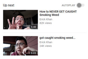 Click, Dank, and Memes: Up next  AUTOPLAY  How to NEVER GET CAUGHT  Smoking Weed  Erick Khan  82K views  5:40  got caught smoking weed...  Erick Khan  24K views  9:03 meirl by AllergicToChicken CLICK HERE 4 MORE MEMES.