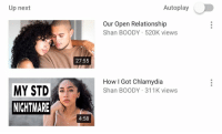 shan: Up next  Autoplay  Our Open Relationship  Shan BOODY 520K views  27:55  How I Got Chlamydia  MY STDShan BOoDY 311K views  NICHTMARE  4:58