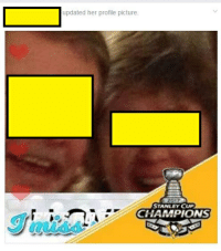 stanley cup champions: updated her profile picture.  STANLEY CUP  CHAMPIONS