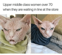 Why so accurate?: Upper middle class women over 70  when they are waiting in line at the store Why so accurate?