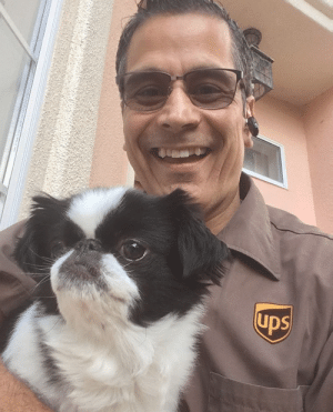 ups-dogs:Our awesome UPS guy, Todd with his favorite girl, Madison.San Luis Obispo, CA: ups-dogs:Our awesome UPS guy, Todd with his favorite girl, Madison.San Luis Obispo, CA