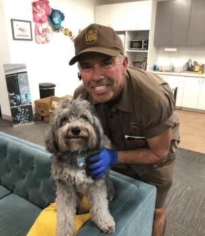 ups-dogs:This is Carlos and Derby out in San Diego! Derby gets very excited when Carlos drops by!: ups-dogs:This is Carlos and Derby out in San Diego! Derby gets very excited when Carlos drops by!