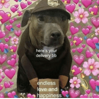 Tumblr, Ups, and Blog: UPS  uns  here's your  delivery bb  endless  ove and  happiness wholesomethemedmemes:GET THE DOOR.
