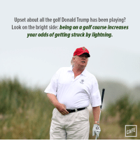 Neat!: Upset about all the golf Donald Trump has been playing?  Look on the bright side: beingon agolfcourse increases  your odds of getting struck by lightning.  CAFE Neat!