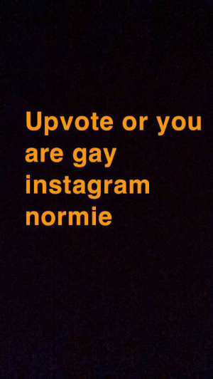 Click, Instagram, and Reddit: Upvote or you  are gay  instagram  normie Click on this no balls