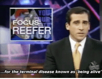 Alive, The Terminal, and Terminal: UR  REEFER  ...for the terminal disease known as 'being alive