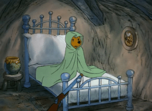 urbanfiltered:  d-i-s-n-3-y-m-a-g-i-c:  hip-hip-poohray:  Can we talk about how unbelievably adorable Winnie the Pooh is? I mean look at him all snuggled up under his blanket for safety!   Why has he got rifle?  to keep away the heffalumps and woozles you moron : urbanfiltered:  d-i-s-n-3-y-m-a-g-i-c:  hip-hip-poohray:  Can we talk about how unbelievably adorable Winnie the Pooh is? I mean look at him all snuggled up under his blanket for safety!   Why has he got rifle?  to keep away the heffalumps and woozles you moron