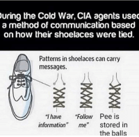 """<p>I&rsquo;d invest via /r/MemeEconomy <a href=""""http://ift.tt/2yW8v8j"""">http://ift.tt/2yW8v8j</a></p>: uring  the Cold War, CIA agents use  a method of communication based  on how their shoelaces were tied.  Patterns in shoelaces can carry  messages.  """"I have """"Follow Pee is  information"""" me"""" stored in  the balls <p>I&rsquo;d invest via /r/MemeEconomy <a href=""""http://ift.tt/2yW8v8j"""">http://ift.tt/2yW8v8j</a></p>"""
