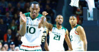 No. 3 Miami holds off No. 11 Wichita State to advance to the Sweet 16! Angel Rodriguez and Sheldon McClellan combined for 46 points.: Urrl Care  IO 21  0 No. 3 Miami holds off No. 11 Wichita State to advance to the Sweet 16! Angel Rodriguez and Sheldon McClellan combined for 46 points.