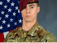 Memes, Army, and Thank You: US ARMY US Army Spc. Gabriel D. Conde was killed Monday during a combat operation in Afghanistan, Conde died just weeks before his deployment was scheduled to end. RIP Hero, thank you for your service and sacrifice. Godspeed! 🇺🇸 https://t.co/8xFNV7ZFoK