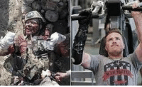 Memes, Squad, and Lost: US Marine Gunnery Sergeant Brian Meyer was deployed as a bomb technician in Afghanistan in 2011 when the device he was defusing exploded prematurely. The then 29-year-old Marine was ripped apart by the blast. He lost his right leg above the knee, his right hand above the wrist and three fingers of his left hand. While still receiving treatment on the battlefield, Sgt Meyer, fearful of the impact his injuries would have on his squad, ordered Eric Lunson to take his photograph. Forcing a smile through the pain, Sgt Meyer, raised what would have earlier been a thumbs' up as the shutter clicked. The photograph, Sgt Meyer hoped, would provide inspiration for his men as he began his own battle with recovery. Via: unknown
