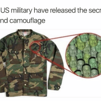 Well I'll be damned | 👉 @betasalmon for more: US military have released the secr  nd camouflage Well I'll be damned | 👉 @betasalmon for more