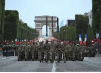 LOOK: Approximately 200 American service members assigned in Europe prepare to lead the Military Parade on BastilleDay. It is tradition for the French government to invite another country to lead the parade.: (US Navy photo by Chief Mass Communication Specialist Michael McNabb) LOOK: Approximately 200 American service members assigned in Europe prepare to lead the Military Parade on BastilleDay. It is tradition for the French government to invite another country to lead the parade.