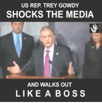 Trey Gowdy lays waste to media bias toward Hillary and Obama... Then *MIC DROP* time!: US REP. TREY GOWDY  SHOCKS THE MEDIA  AND WALKS OUT  LIKE A BOSS Trey Gowdy lays waste to media bias toward Hillary and Obama... Then *MIC DROP* time!