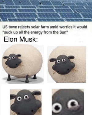 "IQ tends to infinity: US town rejects solar farm amid worries it would  ""suck up all the energy from the Sun""  Elon Musk: IQ tends to infinity"