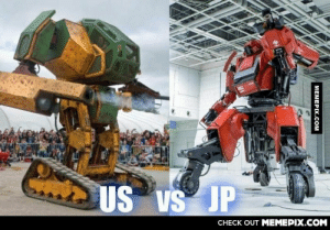 USA challenges Japan in a giant robot fight!omg-humor.tumblr.com: US VS JP  CHECK OUT MEMEPIX.COM  MEMEPIX.COM USA challenges Japan in a giant robot fight!omg-humor.tumblr.com