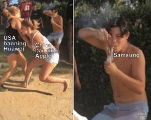 Apple, Samsung, and Usa: USA  banningChina  uawei banning  Samsung  Apple