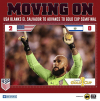 USA marches on.: USA BLANKS EL SALVADOR TO ADVANCE TO GOLD CUP SEMIFINAL  2  0  USP  us  O CBS SPORTS  PRESENTED USA marches on.