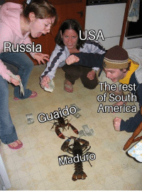 Yup: USA  Russia  The rest  of South  America  do  Guaido  Maduro Yup