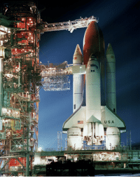 Tumblr, Blog, and Columbia: USA  SIDE space-pics:  Space Shuttle Columbia sits on Pad 39A at Kennedy Space Center. The Shuttle is being prepared for launch on November 11, 1982. [6570 x 8280]