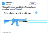 """<p>Invest now while the gun debate is hot via /r/MemeEconomy <a href=""""http://ift.tt/2m61Sf4"""">http://ift.tt/2m61Sf4</a></p>: USA TODAY  GUSATODAY  USA  TODAY  Follow  A look at the gun used in the Texas church  shooting. usat.ly/2Asxtuh  Possible modifications  2:30 PM- 8 Nov 2017 <p>Invest now while the gun debate is hot via /r/MemeEconomy <a href=""""http://ift.tt/2m61Sf4"""">http://ift.tt/2m61Sf4</a></p>"""