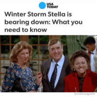 Everyone preparing for this snowstorm and I'm here like: costanzagrams (@imitation.of.reality with the assist): USA  TODAY  Winter Storm Stella is  bearing down: What you  need to know  @costanza grams Everyone preparing for this snowstorm and I'm here like: costanzagrams (@imitation.of.reality with the assist)