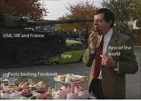 "Facebook, Memes, and Mr. Bean: USA, UK and France  Rest of the  world  Syria  osts bashing Facebook <p>Considering investing. Mr Bean memes look like an untapped market. via /r/MemeEconomy <a href=""https://ift.tt/2HvKPfR"">https://ift.tt/2HvKPfR</a></p>"