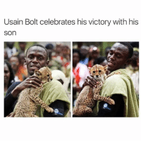 Bruh Yall Went Too Far 😂: Usain Bolt celebrates his victory with his  Son Bruh Yall Went Too Far 😂
