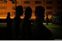 """Memes, Tomorrow, and 🤖: USArmyReserve tweeted this photo showing drill sergeants training cadets to be """"the leaders of tomorrow."""" The cadets had just received a 4am wake-up call on their first day of Basic Camp at Fort Knox."""