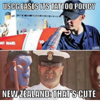 Tattoos, Nick, and Tattoo: USCG EASES ITS TATTOO POLICY  NEWZEALAND THATS CUTE Thanks Nick!