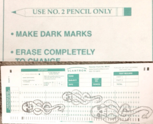 Okay.: USE NO. 2 PENCIL ONLY  MAKE DARK MARKS  ERASE COMPLETELY  TO CHANGE  Reorder Form No. 882-E  www.ScantronStore com  800-722-6876  FOR USE ON TEST SCORING  MACHINE ONLY  IMPORTANT  SCANTRON  TO E SUBCTIVE  TEST RECORD  y  ak t go sctve n  Oely one ark per on y  NAME  PART 1  MAKE DARKARKS  TEST  NO.  SUBJECT  PART 2  gRASE COMPLETEL  TO CHANGE  EXAMPLE OF  STUDENT  scon  DATE  PERIOD  ТОТAL  EXAME  u  ODONe ouuOOOOOu  ৪ ৪  UNTYNLLI1  EE0 THIS oRE  SUBJECTIVE SCORE  NSTRUCTOR USE ONLY  PART 1  3 0  co.  3  3 Okay.