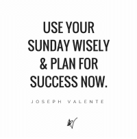 Sundays aren't just for relaxation - they're for planning the week ahead! StopDreamingStartDoing: USE YOUR  SUNDAY WISELY  & PLAN FOR  SUCCESS NOW  J O S E P H V A L E N T E Sundays aren't just for relaxation - they're for planning the week ahead! StopDreamingStartDoing