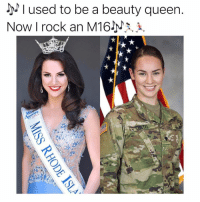 Goals, Memes, and Queen: used to be a beauty queen.  Now I rock an M16Jy^^, 1i  12 Alexandra Curtis is wife goals