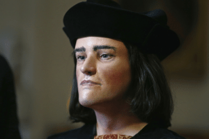 """useless-englandfacts:  nadiacreek:  reuters:  With a large chin, a prominent slightly arched nose and delicate lips, the """"face"""" of England's King Richard III was unveiled on Tuesday, a day after researchers confirmed his remains had finally been found after 500 years. A team of university archaeologists and scientists announced on Monday that a skeleton discovered last September underneath a council parking lot in Leicester was indeed that of Richard, the last English king to die in battle, in 1485. Devotees of Richard, who have long campaigned to restore his reputation, proudly revealed a 3D reconstruction of the long-lost monarch's head on Tuesday, introducing him to reporters as """"His Grace Richard Plantagenet, King of England and France, Lord of Ireland"""". READ ON: Face of Richard III, England's """"king in the car park"""", revealed    LITERALLY ABOUT TO DIE WHAT THE FUCK : useless-englandfacts:  nadiacreek:  reuters:  With a large chin, a prominent slightly arched nose and delicate lips, the """"face"""" of England's King Richard III was unveiled on Tuesday, a day after researchers confirmed his remains had finally been found after 500 years. A team of university archaeologists and scientists announced on Monday that a skeleton discovered last September underneath a council parking lot in Leicester was indeed that of Richard, the last English king to die in battle, in 1485. Devotees of Richard, who have long campaigned to restore his reputation, proudly revealed a 3D reconstruction of the long-lost monarch's head on Tuesday, introducing him to reporters as """"His Grace Richard Plantagenet, King of England and France, Lord of Ireland"""". READ ON: Face of Richard III, England's """"king in the car park"""", revealed    LITERALLY ABOUT TO DIE WHAT THE FUCK"""