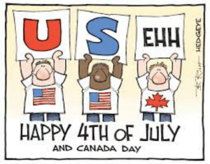Happy 4th Americans: USELH  HAPPY 4TH OF JULY  AND CANADA DAY  3A323H Happy 4th Americans