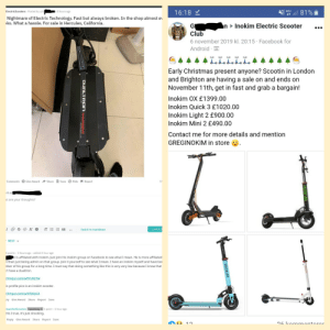 User gets called out for attempting to trash talk Dualtron scooters, despite not owning one, and while simultaneously selling the competitions scooters on Facebook.: User gets called out for attempting to trash talk Dualtron scooters, despite not owning one, and while simultaneously selling the competitions scooters on Facebook.