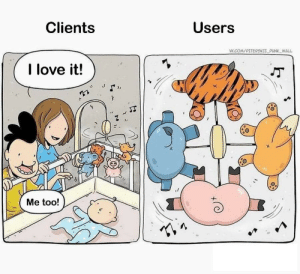 (repost, may be) this is so true: Users  Clients  VK.COM/PITERSKIIPUNK WALL  I love it!  Me too! (repost, may be) this is so true