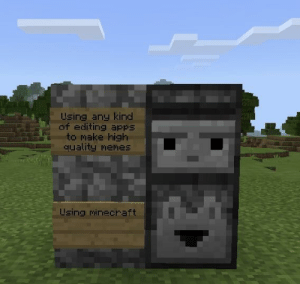 Memes, Minecraft, and Apps: Using any kind  of editing apps  to make high  quality memes  lzing minecraft Rise up Minecrafters via /r/memes https://ift.tt/2Ufjt0p