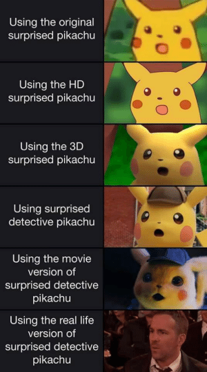 We must go the deepest by Chris_Isur_Dude MORE MEMES: Using the original  surprised pikachu  Using the HD  surprised pikachu  Using the 3D  surprised pikachu  Using surprised  detective pikachu  Using the movie  version of  surprised detective  pikachu  Using the real life  version of  surprised detective  pikachu We must go the deepest by Chris_Isur_Dude MORE MEMES