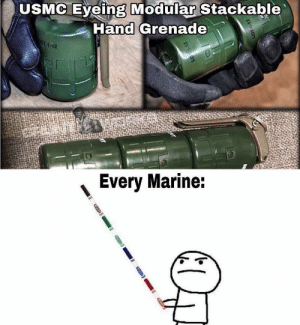 Stack them up: USMC Eyeing Modular Stackable  Hand Grenade  OT-1-12  Every Marine: Stack them up