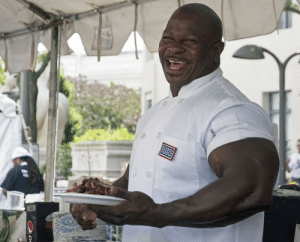 Andre Rush, the White House Chef, did 24 years of military service and now specializes in cake decoration among others.: USOE Andre Rush, the White House Chef, did 24 years of military service and now specializes in cake decoration among others.