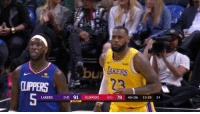 Los Angeles Lakers, Clippers, and Back: Ut  LIPPERS  LAKERS 26-25 91 CLIPPERS 28-23 784th Qtr 10:28 24 Bron just pulled off the Harden step-back.