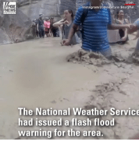 Hikers created a human chain at Zion National Park to help each other cross a river as flash floods swept the area.: Utah  FOX  NEWS  Instagram/23boxer via Storyful  The National Weather Service  had issued a flash flood  warning for the area. Hikers created a human chain at Zion National Park to help each other cross a river as flash floods swept the area.