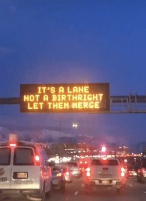 UTAH has its issues, but it's traffic signs are top notch: UTAH has its issues, but it's traffic signs are top notch