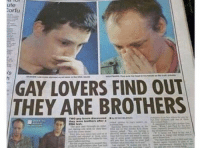 Memes, 🤖, and Bromance: ute  Tortu  GAY LOVERS FIND OUT  THEY ARE BROTHERS Taking bromance to the next level
