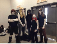 Halloween, Memes, and Ups: UU  cr Shared these guys last year, anyone dressing up this year or have any Metalocalypse cosplays to share?   We always appreciate a good Rockso, especially if you can see his junk through his jumpsuit.   #Dethklok #Halloween